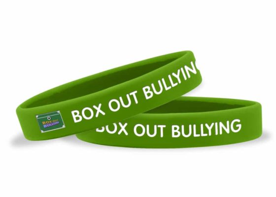 Box Out Bullying Wristband