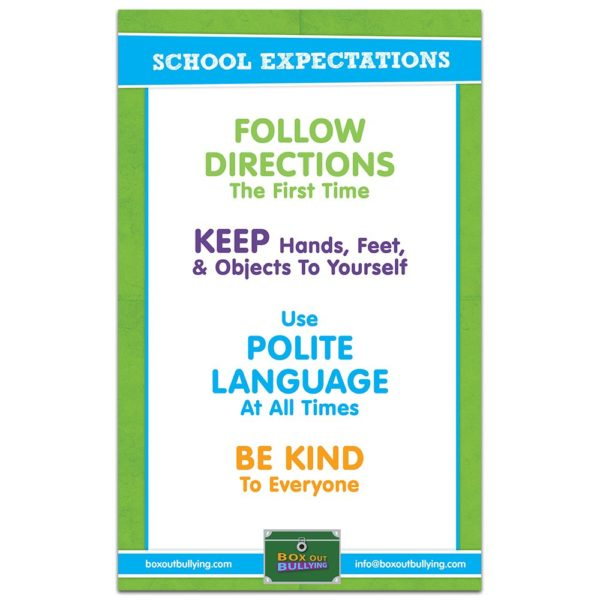 School Expectations Poster