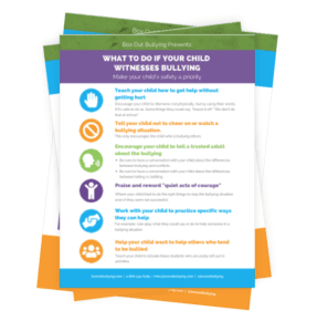 Image of helpful worksheets on bullying prevention