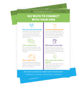 Connecting with kids worksheets
